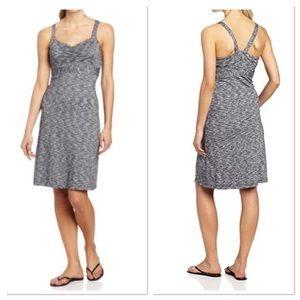 PrAna Gray Spacedye Amaya Athletic Strappy Dress